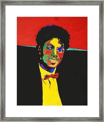 Michael Jackson Framed Print by Stormm Bradshaw