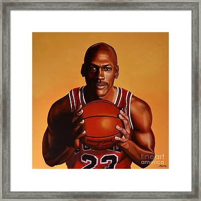 Michael Jordan 2 Framed Print by Paul Meijering