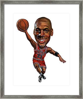 Michael Jordan Framed Print by Art