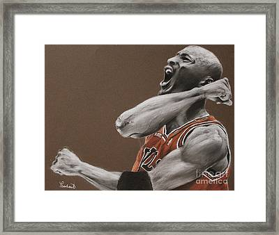 Michael Jordan - Chicago Bulls Framed Print by Prashant Shah