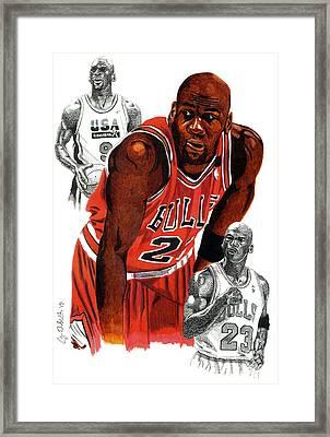 Michael Jordan Framed Print by Cory Still