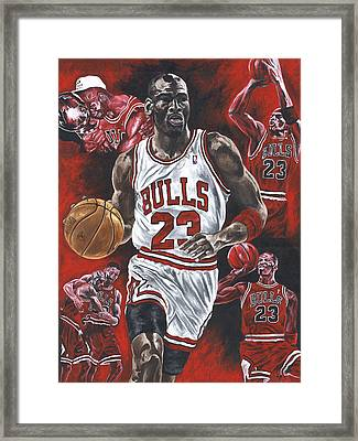 Michael Jordan Framed Print by David Courson