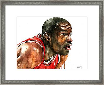 Michael Jordan Early Days Framed Print by Michael  Pattison