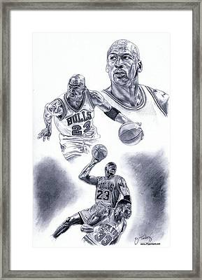 Michael Jordan Framed Print by Jonathan Tooley
