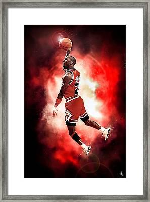 Michael Jordan Framed Print by NIcholas Grunas Cassidy