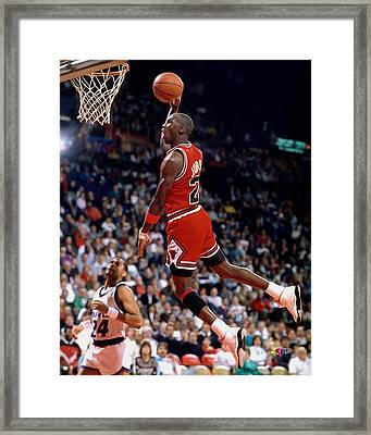 Michael Jordan  Framed Print by Paint Splat
