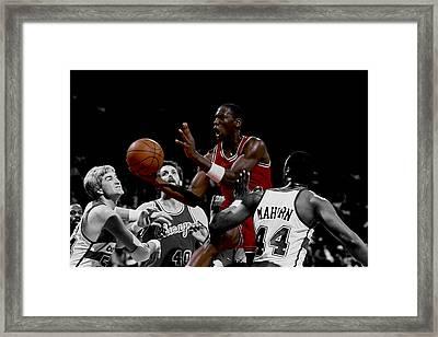 Michael Jordan Rookie Year Framed Print by Brian Reaves