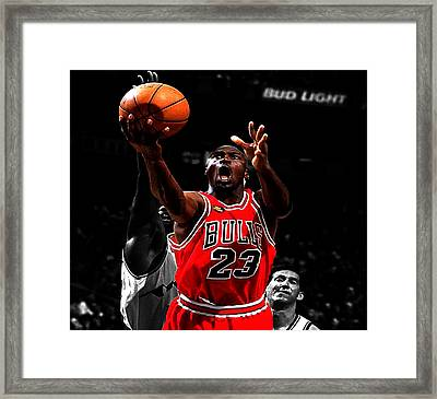 Michael Jordan Soft Touch Framed Print by Brian Reaves