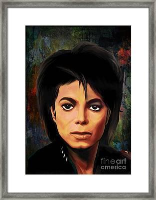 Michael Joseph Jackson  Framed Print by Andrzej Szczerski