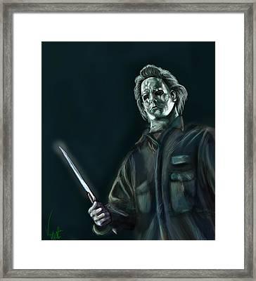 Michael Myers Framed Print by Vinny John Usuriello