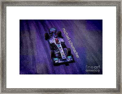 Michael Schumacher Framed Print by Marvin Spates