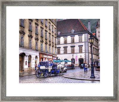 Michaelerplatz. Vienna Framed Print by Juli Scalzi