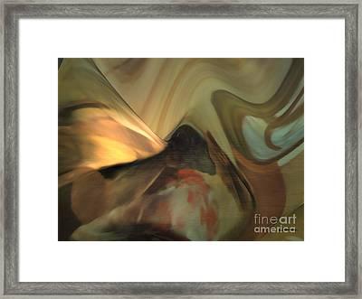 Michelangelo Fresco Ceiling Atmosphere Framed Print by Christian Simonian
