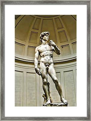 Michelangelos David  Framed Print by Jon Berghoff