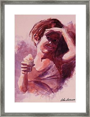 Michelle Framed Print by John  Svenson