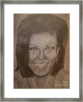 Michelle Obama Framed Print by Irving Starr
