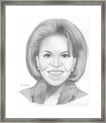 Michelle Obama Framed Print by M Valeriano