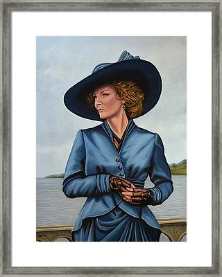 Michelle Pfeiffer Framed Print by Paul Meijering