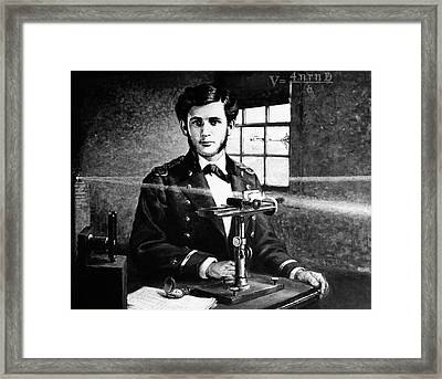 Michelson And His Interferometer Framed Print by Us Navy, Naval History And Heritage Command
