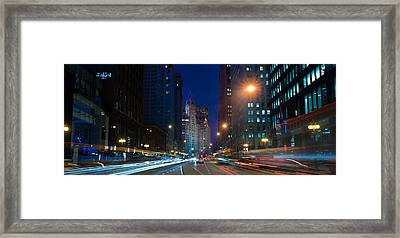 Michigan Avenue Chicago Framed Print by Steve Gadomski