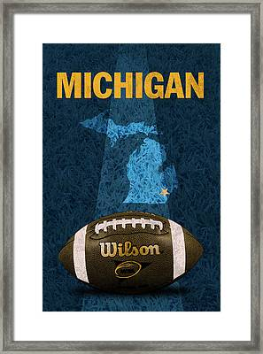 Michigan Football Poster Framed Print by Design Turnpike