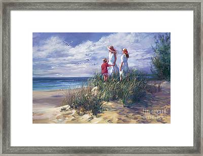 Michigan Shore Memories  Framed Print by Laurie Hein