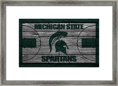 Michigan State Spartans Framed Print by Joe Hamilton