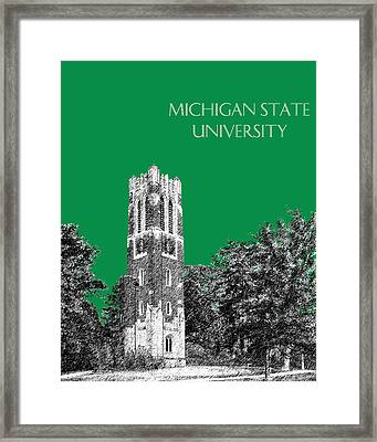 Michigan State University - Forest Green Framed Print by DB Artist