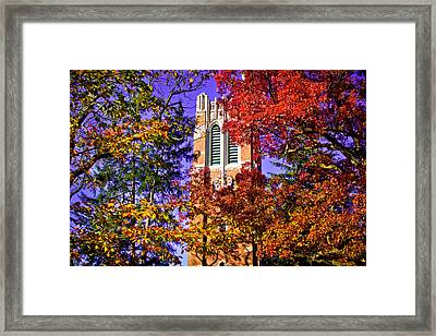 Michigan State University Beaumont Tower Framed Print by John McGraw