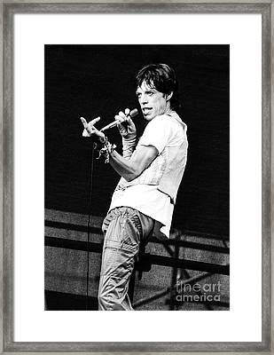 Mick Jagger 1978 Framed Print by Chris Walter