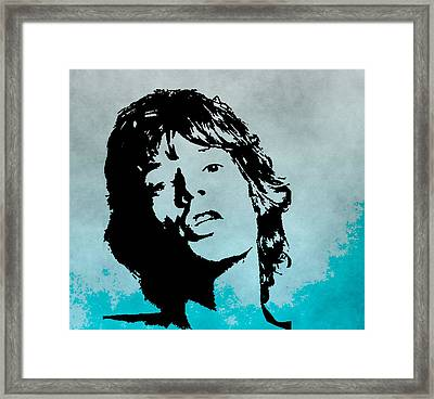 Mick Jagger Poster Framed Print by Dan Sproul