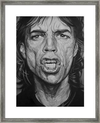 Mick Jagger Framed Print by Steve Hunter