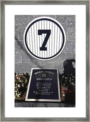 Mickey Mantle Framed Print by Allen Beatty