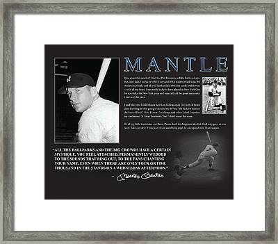 Mickey Mantle Framed Print by Retro Images Archive