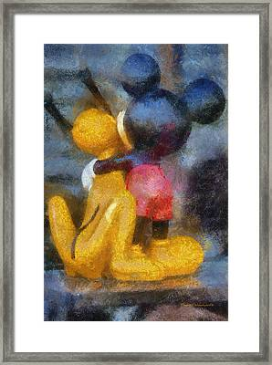 Mickey Mouse Photo Art Framed Print by Thomas Woolworth