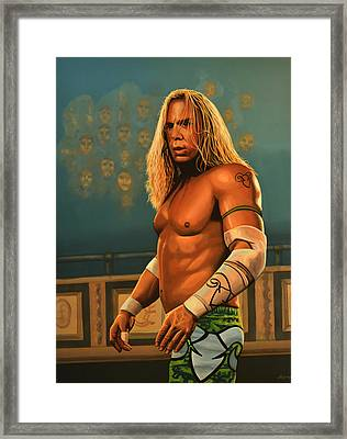 Mickey Rourke Framed Print by Paul Meijering