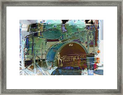 Mick's Drums Framed Print by Paulette B Wright