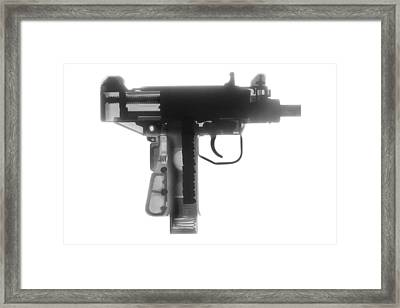 Micro Uzi X Ray Photograph Framed Print by Ray Gunz