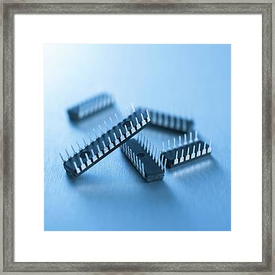 Microchips Framed Print by Science Photo Library