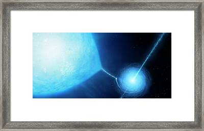 Microquasar X-ray Binary System Framed Print by Mark Garlick