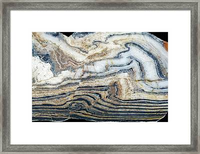 Microstructures In Gneiss Framed Print by Dirk Wiersma