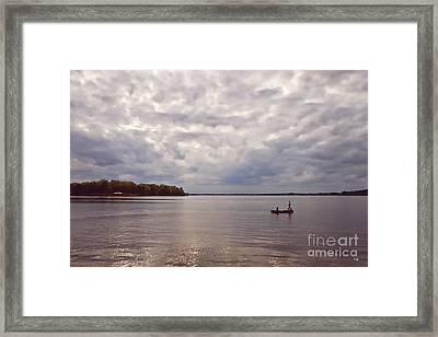 Mid Lake Storm Framed Print by Scott Pellegrin
