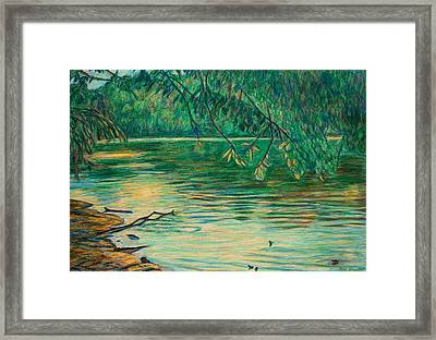 Mid-spring On The New River Framed Print by Kendall Kessler