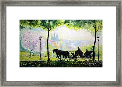 Midday Walk In The Petrin Gardens Prague Framed Print by Yuriy Shevchuk
