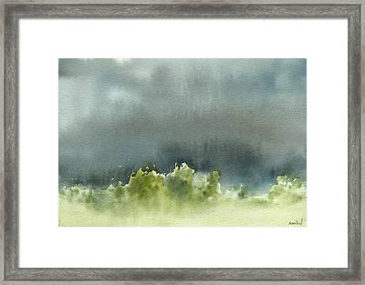Middle Ground 7-29-13 Framed Print by Sean Seal