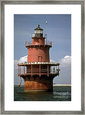 Middle Ground Lighthouse Framed Print by Skip Willits