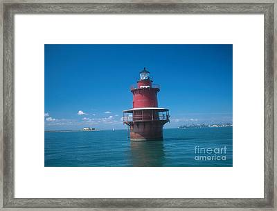Middle Ground Lighthouse, Va Framed Print by Bruce Roberts