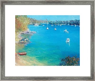 Middle Harbour Sydney Framed Print by Jan Matson