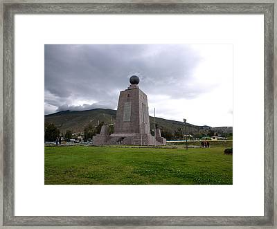 Middle Of The World Monument, Mitad Del Framed Print by Panoramic Images