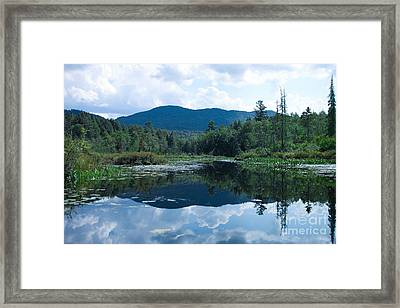 Middle Saranac Lake Launch Framed Print by Steve Clough